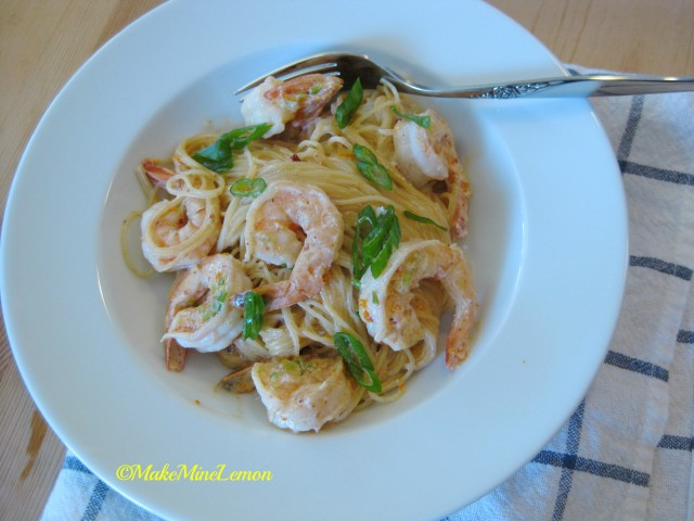 MakeMineLemon – Shrimp With Orange Chipotle Cream