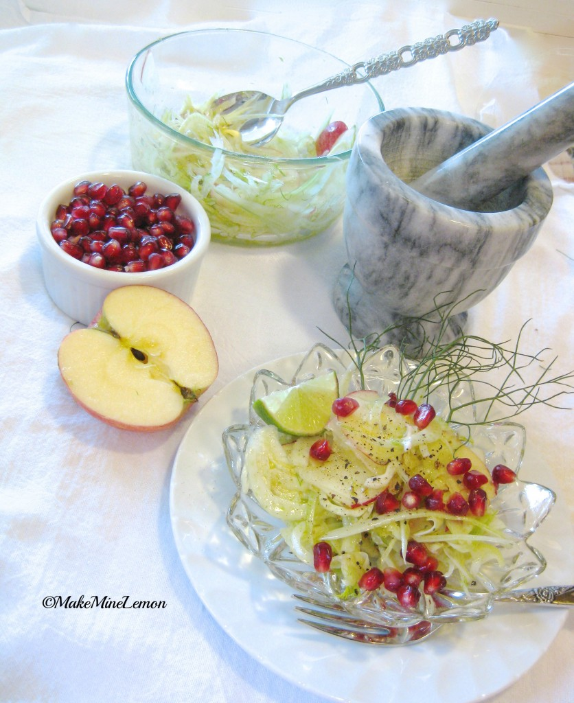 MakeMineLemon – Fennel and Pomegranate Salad