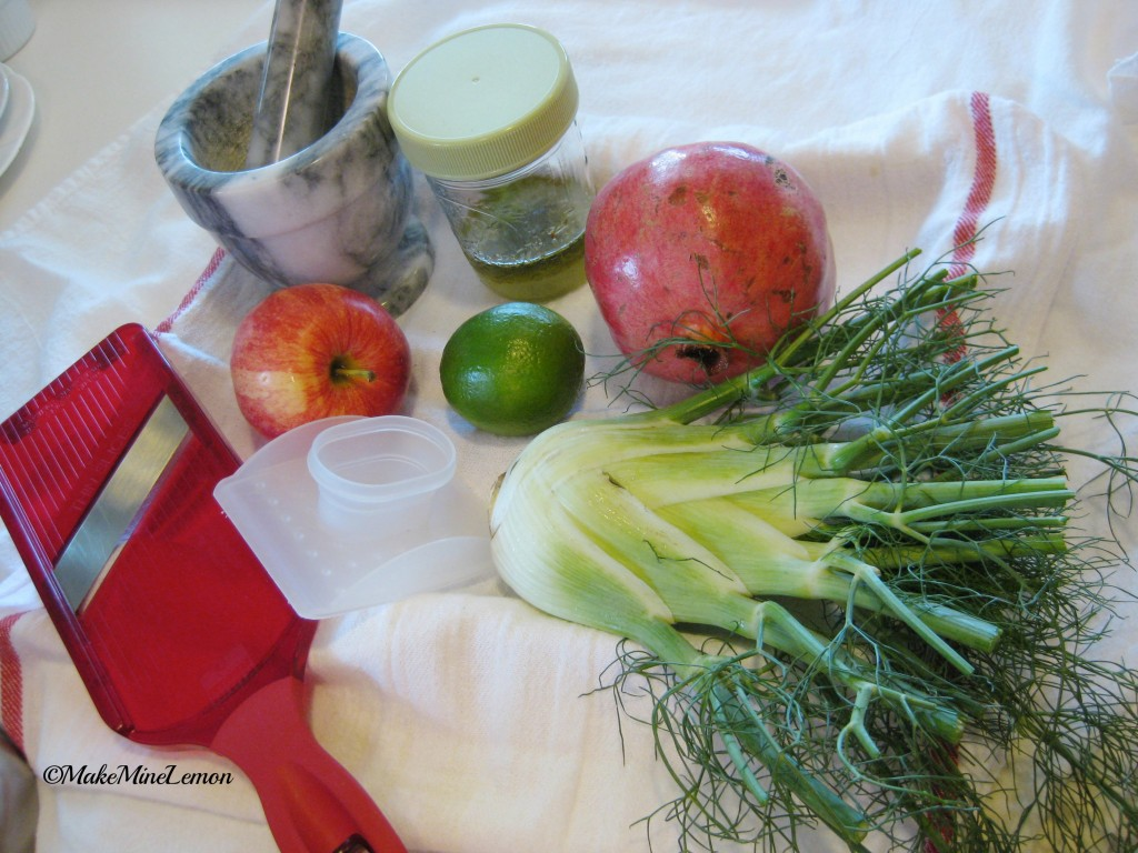 ©MakeMineLemon - Fennel and Pomegranate Mise en place