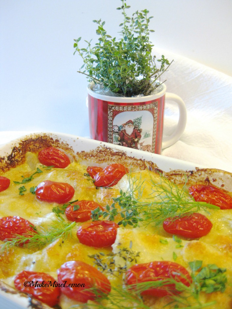 ©MakeMineLemon - Roasted Fennel and Cherry Tomato Gratin