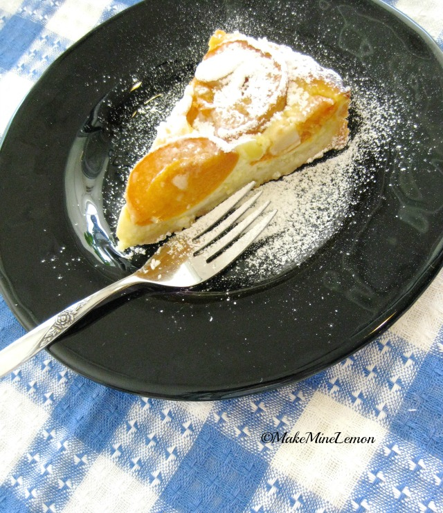 Apricot Tart With A Dusting Of Confectioner's Sugar