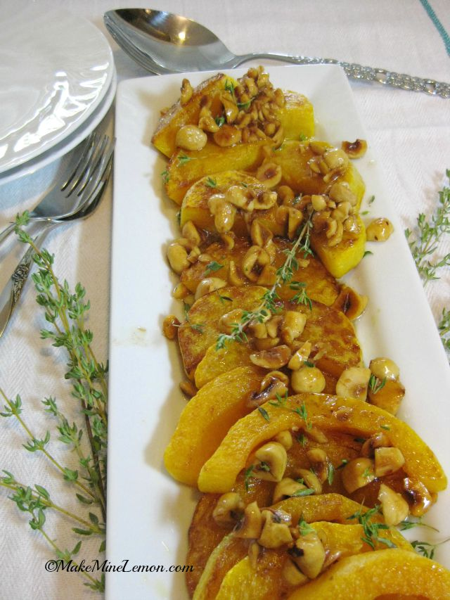 Roasted Butternut Squash with Browned Butter and Hazelnuts